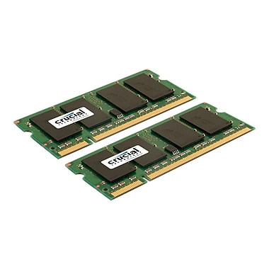 Crucial 8GB (2 x 4GB) DDR2 (200-Pin SO-DIMM) DDR2 800 (PC2 6400) Notebook Memory Module