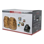 C2G 41309 Wireless Rock Speaker Bundle With Dual Power Transmitter, Brown/Sandstone