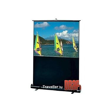 Draper® Traveller 50in. Portable Projector Screen, 4:3, Black Aluminum Casing