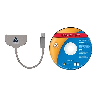 Apricorn ASW-USB3-25 0.20' USB to SATA Data Transfer Cable, Gray