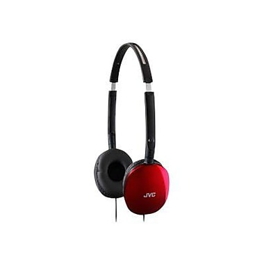 JVC HAS160 Lightweight Foldable Flat Headphone, Red