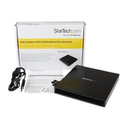 StarTech SLMSOPTB USB to Slimline SATA CD/DVD Optical Drive Enclosure