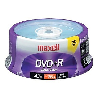 Maxell 639011 4.7 GB DVD+R Spindle, 25/Pack