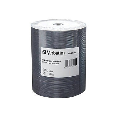 Verbatim® DataLifePlus 700MB CD-R, Wrap, 100/Pack