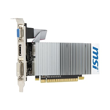 msi™ GT210 PCIe 1GB DDR3 589 MHz Low Profile Passive Cooling Plug-in Graphic Card