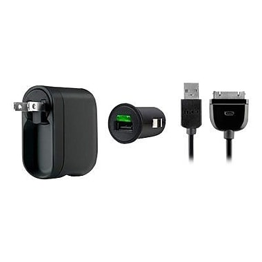 Belkin® AC/DC Charger Power Kit For iPod/iPhone/iPad, Black