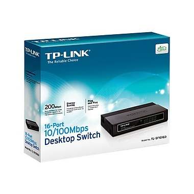 TP-LINK TL-SF1016D 16-Port 10/100Mbps Desktop Switch, 3.2Gbps Capacity