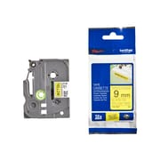 Brother® TZE 0.35(W) Industrial Label Tape, Black On Yellow