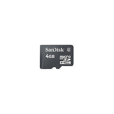 SanDisk® SDSDQM MicroSD High Capacity Flash Memory Card With Adapter, 4GB