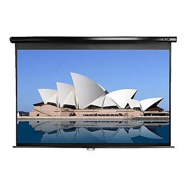 Elite Screens® Manual 142in. Projection Screen, 2.35:1, Black Casing