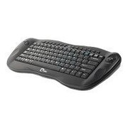 SIIG JK-WR0412-S1 USB Wireless Mini Multimedia Trackball Keyboard, Black