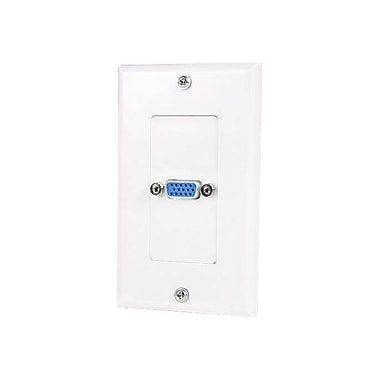 StarTech VGAPLATE Single Outlet 15-Pin Female VGA Wall Plate, White