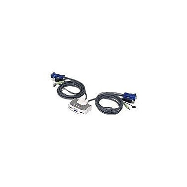 Iogear® MiniView™ GCS632UW6 Micro USB PLUS KVM Switch With Audio And Cables, 6'