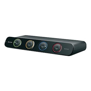 Belkin® F1DH104D DVI/USB KVM Switch, 4 Ports