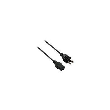 V7® 10' AC NEMA 5-15P to IEC C13 Computer Power Cable, Black
