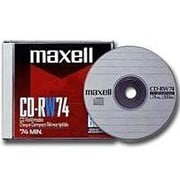 Maxell 630011 700 MB CD-RW Slim Jewel Case, 10/Pack