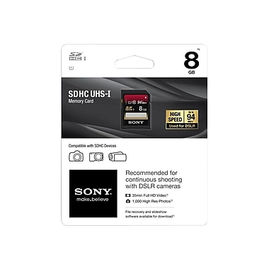 Sony SDHC Class 10/UHS-I Memory Card, 8GB