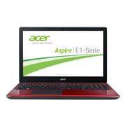 "Acer ™ Aspire E1 E1-572-6484 15.6"" Notebook, LCD, Intel i3-4010U Dual-Core, 500GB HDD, 4GB RAM, Windows 7 Home, Red"