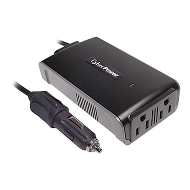 CyberPower® 200 W Mobile Power Inverter, 12 VDC Input, 120 VAC Output, 2 Outlet