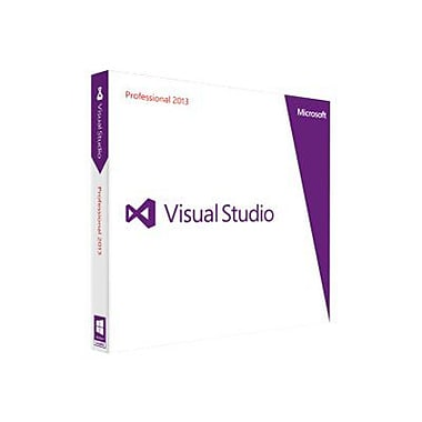 Microsoft® C5E-01077 Visual Studio 2013 Professional Version Upgrade Software, 1 User