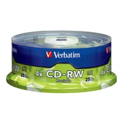 Verbatim 95169 700 MB CD-RW Spindle, 25/Pack