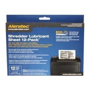 Aleratec® 240165 Shredder Lubricant Sheet, 12/Pack