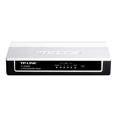 TP-LINK TL-R402M 4-Port Cable/DSL home Router, 1 WAN port, 4 LAN ports