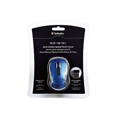 Verbatim® 97471 Wireless Optical Mini Travel Mouse