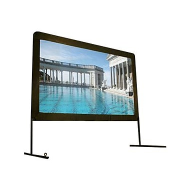 Elite Screens™ Yard Master Series 100in. Tabletop Portable Projector Screen, 16:9, Black Aluminum