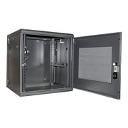 "StarTech RK1219WALHM 19"" Hinged Wall Mount Server Rack Cabinet, 12U"