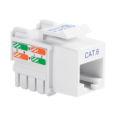 Belkin® Cat.6 Keystone Jack, White, 25/Pack