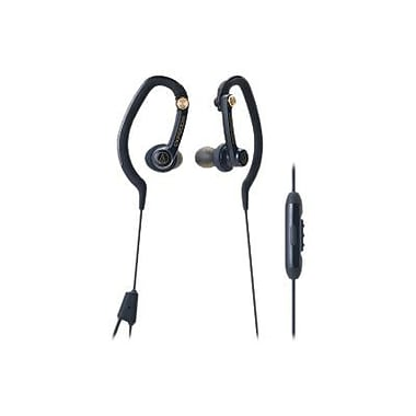Audio-Technica SonicSport ATH-CKP200iSBK In-Ear Headphone with Mic, Black