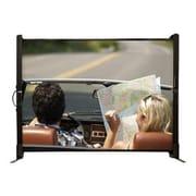 Draper® MicroScreen 50 Tabletop Portable Projector Screen, 4:3, Sidewinder Black Casing