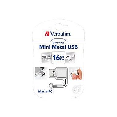 Verbatim® Store 'n' Go® 16GB Mini Metal USB 3.0 Flash Drive, Silver