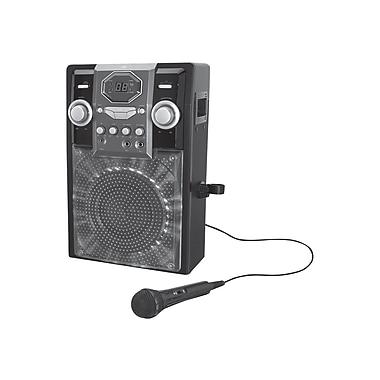 GPX® J182B Black karaoke Party Machine With LED in.rockstarin. Light Effects
