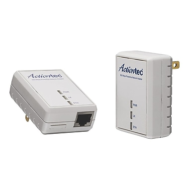 Actiontec® PWR511K01 500 AV Powerline Network Adapter Kit, Single Port