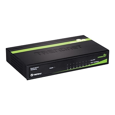 TRENDNET® Gigabit GREENnet Switch, 8-Ports (TEG-S80Dg)