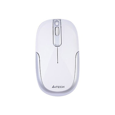 A4Tech® 4 Button Wireless DustFree HD Mouse, White