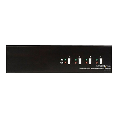 Startech.com® SV431DD USB/DVI/VGA KVM Switch, 4 Ports