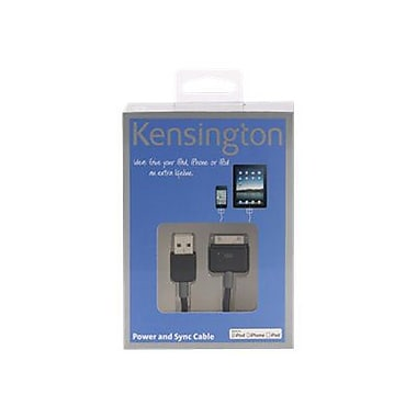 Kensington® K39252US 3.3' Power/Sync Cable For iPad/iPhone/ipod, Black