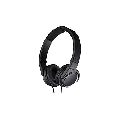 JVC HAS400B Stereo Foldable On-Ear Headband Headphone, Black