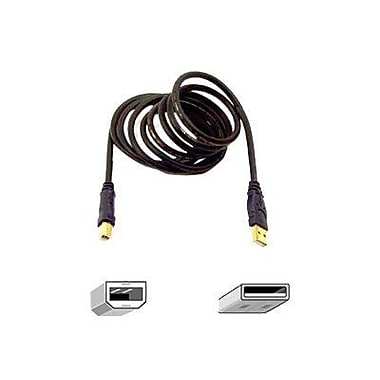 Belkin® 6' Gold Series Hi-Speed USB 2.0 A/B Cable, Gray