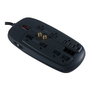 V7® SA0806B-8N6 8-Outlet 1800 Joule Surge Protector With 6' Cord