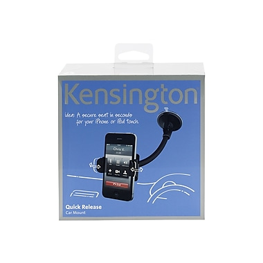 Kensington® Quick Release Cradle With Mount For iPhone 4, Black
