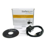 StarTech 6' USB 2.0/Serial RS232 Male to Male Adapter Cable, Black