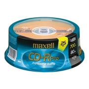 Maxell 648425 700 MB CD-R Spindle, 25/Pack