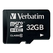 Verbatim® 32GB microSDHC (microSD High Capacity) Class 10 Flash Memory Card With Adapter