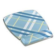 3M™ MW308 Fun Design Rubber Base Mouse Pad For Keyboard, Plaid Blue