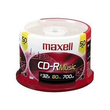 Maxell 625156 700 MB CD-R Spindle, 50/Pack