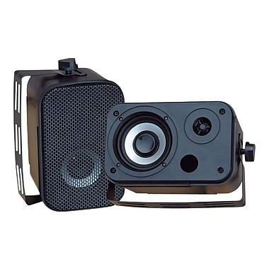 Pyleaudio® PDWR30 Indoor/Outdoor Waterproof Speaker, Black